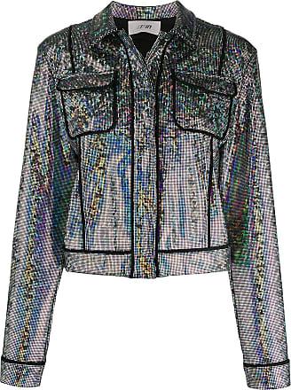 Kirin rainbow cropped jacket - SILVER