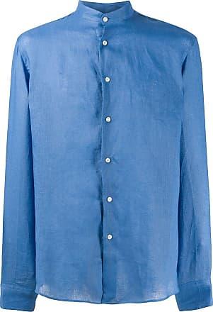 Peninsula Camisa Cala di Volpe de linho - Azul
