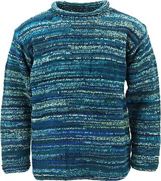Loud Elephant Chunky Wool Space Dye Knit Jumper - Teal (Medium)