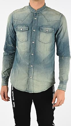 Balmain Denim Vintage Effect Shirt Größe 39