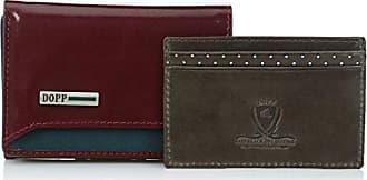 Dopp Mens Beta RFID Blocking Leather I.d. Three-fold Wallet, Burgundy, One Size