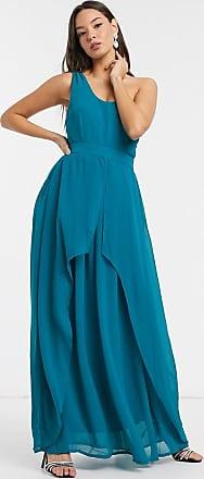 Little Mistress Libra - Blaues Maxikleid mit One-Shoulder-Träger