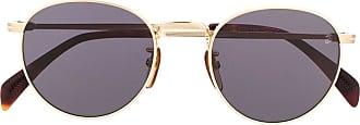 David Beckham Óculos de sol aviador redondo DB 1005/S - Dourado