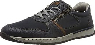 Rieker Mens B5124-14 Low-Top Sneakers, Blue (Navy/Pazifik/Mogano 14), 10.5 UK
