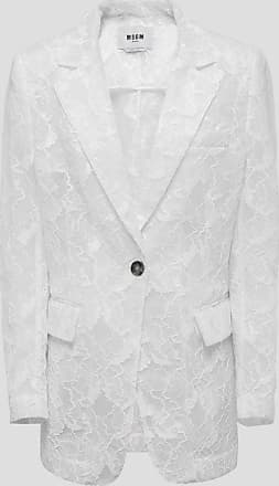 Msgm single-breasted jacket in lace