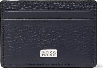 5be914d271d HUGO BOSS Full-grain Leather Cardholder - Navy