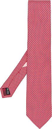 Salvatore Ferragamo printed tie - Vermelho