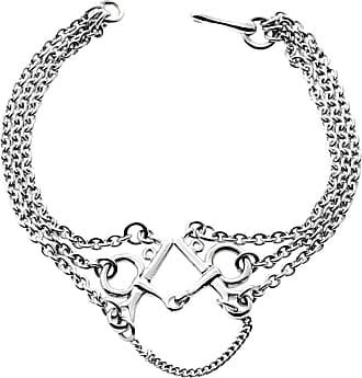 Hermès H Gold Chain Link Bracelet