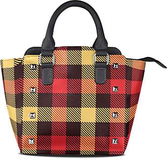 NaiiaN Light Weight Strap Leather Fashion Pattern Tartan Lattice for Women Girls Ladies Student Purse Shopping Tote Bag Ladybug Shoulder Bags Handbags