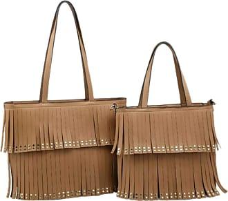 Girly HandBags Girly HandBags Womens 2 in 1 Tassel Handbag - Brown
