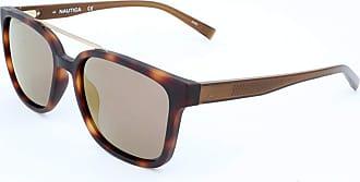 Nautica Óculos Nautica N6229S 215 Tartaruga Lente Marrom Flash Tam 56