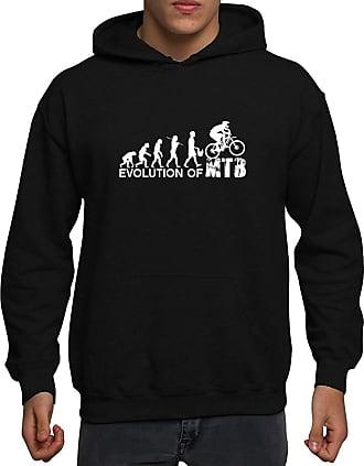 Bang Tidy Clothing The Evolution of Mountain Biking MTB Mens Hoodie-Black-XL