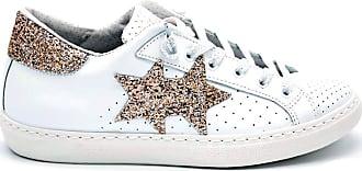 2Star 2 star - sneaker donna con logo e dettaglio glitter - 38 - bianco-rosa