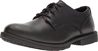 Wolverine Mens Bedford Soft-Toe Oxford SR Food Service Shoe, Black, 8.5 Extra Wide US