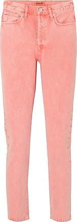 A Gold E Jamie Cropped High-rise Slim-leg Jeans - Peach