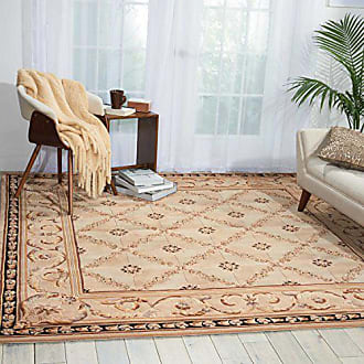 Nourison Versailles Palace (VP06) Beige Octagon Area Rug, 6-Feet by 6-Feet (6 x 6)