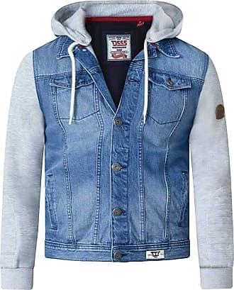 Duke London Duke Mens D555 Lester Denim Jacket Vintage-Blue-3XL