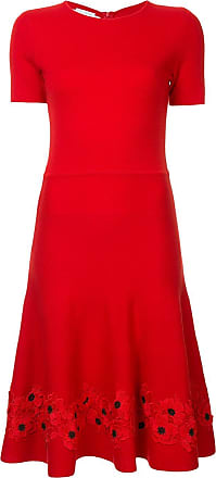 Oscar De La Renta Anemone flower dress - Red
