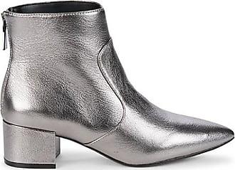 Karl Lagerfeld Metallic Leather Booties