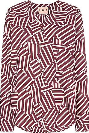 Plan C Camisa com estampa geométrica - Vermelho