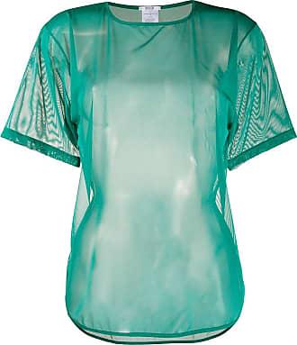 Wolford Camiseta com tule e decote arredondado - Verde