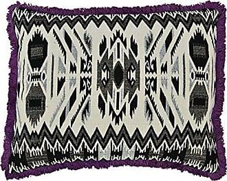 VHC Brands Boho & Eclectic Farmhouse Pillows & Throws-Cassidy White Jacquard 14 x 18 Pillow