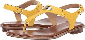 d8d20a97e2b Michael Kors MK Plate Thong (Golden Yelow Saffiano) Womens Sandals