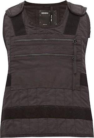 Nemen Crash Velcro-fastened Quilted Vest - Mens - Black