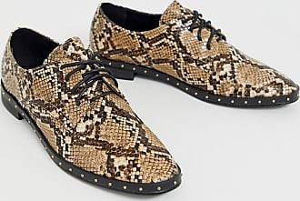 London Rebel lace up brogues in snake-Multi