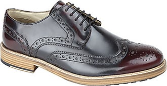 Roamers Roamer Mens 5 Eyelet Wing Capped Resin Sole Brogue Gibson Shoes (9 UK) (Oxblood)