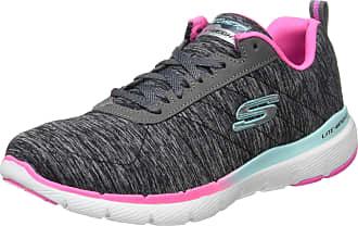 Skechers Womens Flex Appeal 3.0 Trainers, Black (Black Mesh/Pink & Blue Trim Bkmt), 6.5 UK 39.5 EU