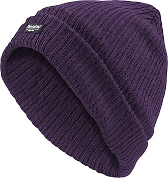 True Face Ladies Fleece Lined Thin Insulation Hat Purple