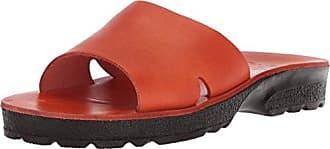 Jerusalem Sandals Womens Bashan Molded Footbed Slide Sandal, Orange, 42 Medium EU (11-11.5 US)