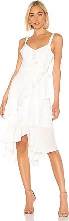 Parker Santana Combo Dress in White