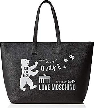 f3292edf56 Love Moschino Pu, Borsa Tote Donna, (Nero), 15x10x15 cm (W