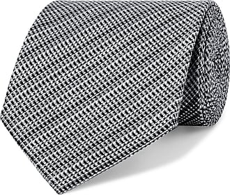 Tom Ford 8cm Woven Silk And Linen-blend Tie - Gray