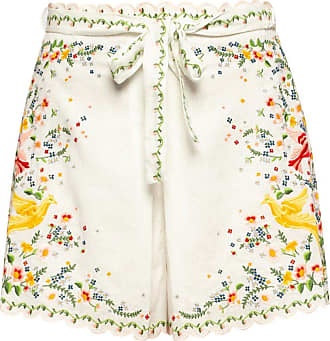 Zimmermann High-waisted Linen Shorts Womens White