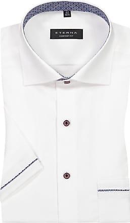 Eterna Kurzarmhemd mit Brusttasche, Comfort Fit von Eterna in Weiss für Herren