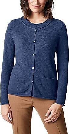 0d8fac115ffc62 Walbusch Damen Cashmere-Rundhals Twinset einfarbig Denim Blau 44