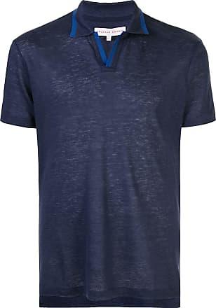 Orlebar Brown Camisa polo Felix de linho - Azul
