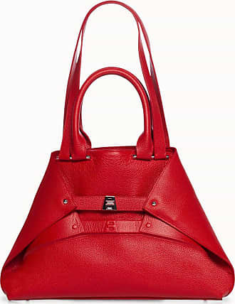 MQaccessories Small Aicon Leather Tote Bag with Embossed Details