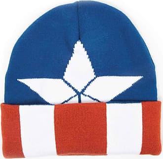 MARVEL Captain America Hat Beanie Civil War Logo Blue Red White