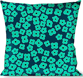 Buckle Down Pillow Decorative Throw Ditsy Floral Teal Light Teal Teal