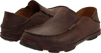 Olukai Moloa (Dark Wood/Dark Java) Mens Slip on Shoes