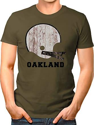 OM3 Oakland-Helmet - T-Shirt | Mens | American Football Shirt | 3XL, Olive