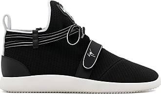 14af062590e10 Giuseppe Zanotti Stretch fabric mid-top sneaker with signature HAYDEN