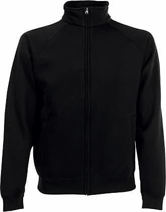 Fruit Of The Loom Mens Premium Sweat Jacket Black