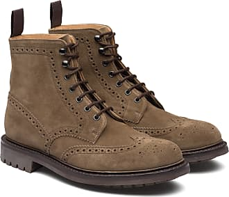 Churchs Suede Lace-up Boot Brogue Man Mud Size 6,5