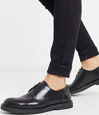 Topman chunky lace up shoe in black