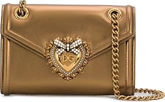 Dolce & Gabbana Bolsa Devotion mini - Dourado